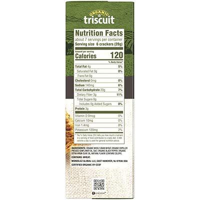 Triscuit Organic Original Label